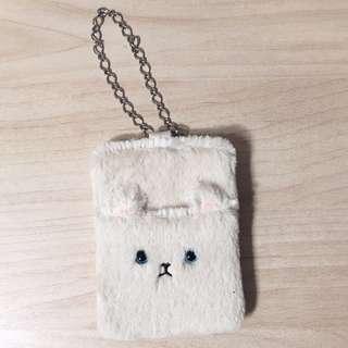 日本 貓咪 毛絨 票卡夾 悠遊卡夾