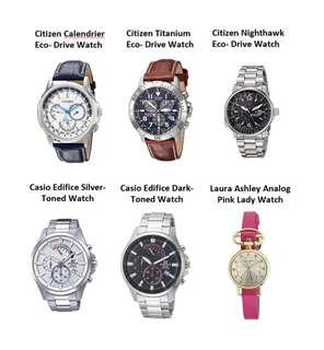 Branded Watches: Citizen Eco-Drive, Casio Edifice and Laura Ashley