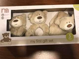 🚚 Brand new in box Mothercare gift set bear lovey