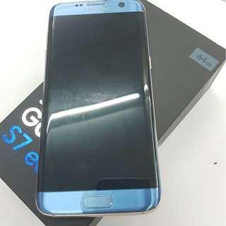 S7 EDGE 【64G】 天藍色 無傷 無烙印 配件如圖