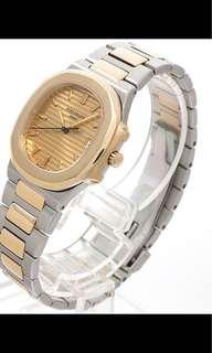 Patek Philippe Nautilus 3900/1 Half Gold(Mid-size Unisex 33-Quartz)