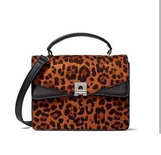 STRADIVARIUS leopard crossbody bag - NEGO (PO max. 7hari)