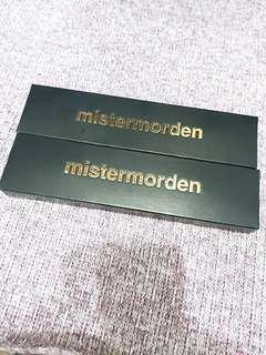 🚚 Mistermorden全新旋轉式眼線膠筆2支組~深紅+深棕~2020.5.21到期