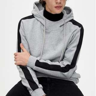 Pull & Bear Hoodie with side stripes