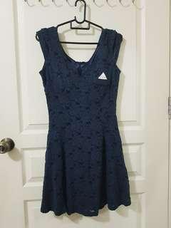 🚚 6sgd navy dress