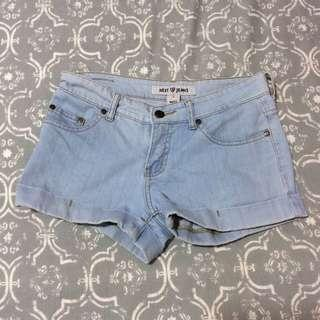 FADED DENIM SHORT
