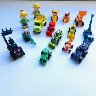 Bob the build figurines and construction vehicles