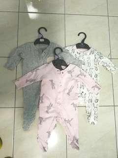 Baby Sleepsuits mothercare