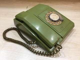 Vintage Green Dial Telephone