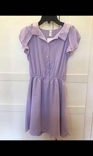 CHERRYKOKO Purple Chiffon Dress