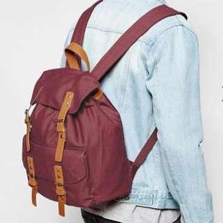 Asos Burgundy Backpack