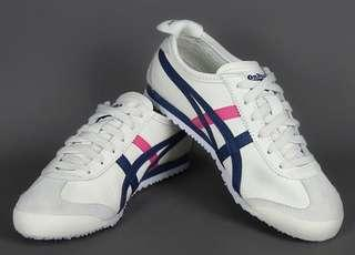 [PO] Asics Onitsuka Tiger Mexico 66 Women's Shoes in White Grey