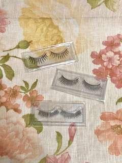 🚚 【假睫毛3副特價】全新3種不同款式-自然、濃密、纖長。柔軟舒適,好配戴,質感佳【浪漫晴天】