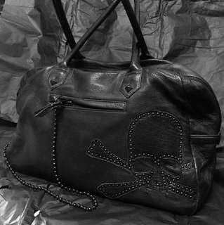 Roen セメタリースカルハラコ reshuffling leather Boston bag black size: - (ロエン)
