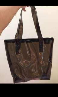 Selena tote bag transparan