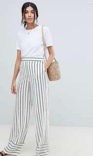 ASOS Linen Wide Leg High Waited Pants