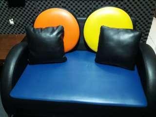 Kursi Kantor sofa 2 seat kecil mulus