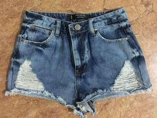 factorie high waisted denim shorts raid