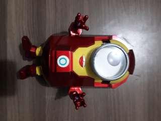 Action figure iron man minion