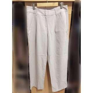 🚚 全新雪紡西裝褲-淡粉
