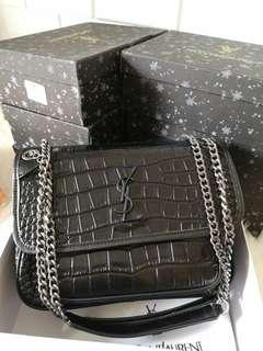 SL NIKI CHAIN CROCO BAG