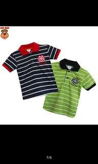 Mac Bear Junior Baju anak Atasan Polo Robo Club Stripe