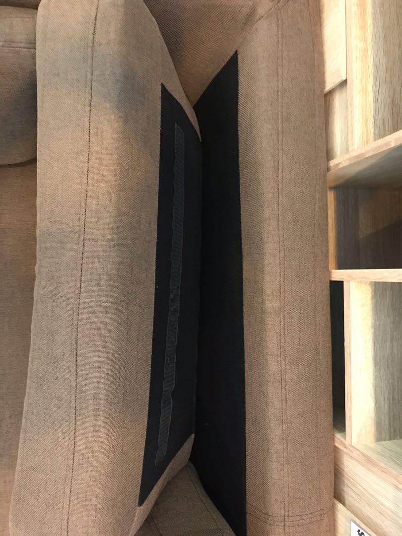 2,5 seater sofa (full fabric brown)