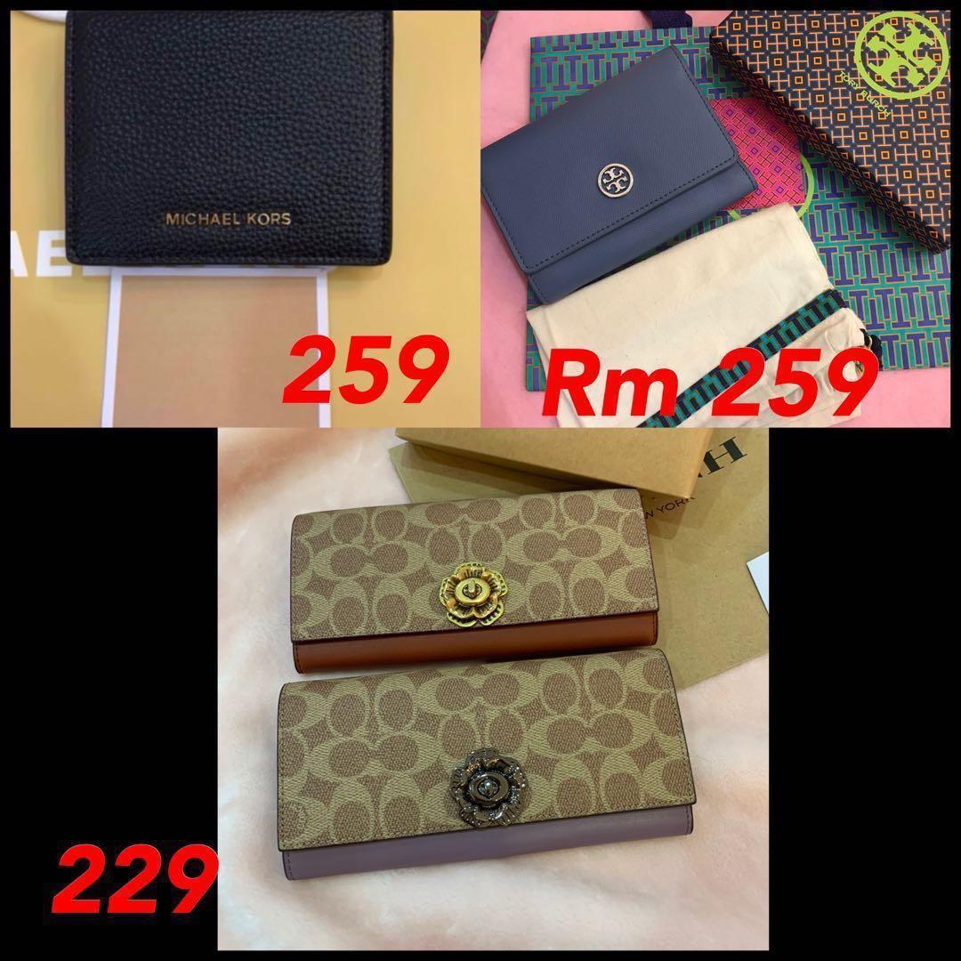 (28/03/19)Ready Stock original coach women wallet handbag clutch mk wristlet backpack bag listing Tory Burch men wallet messengers bag