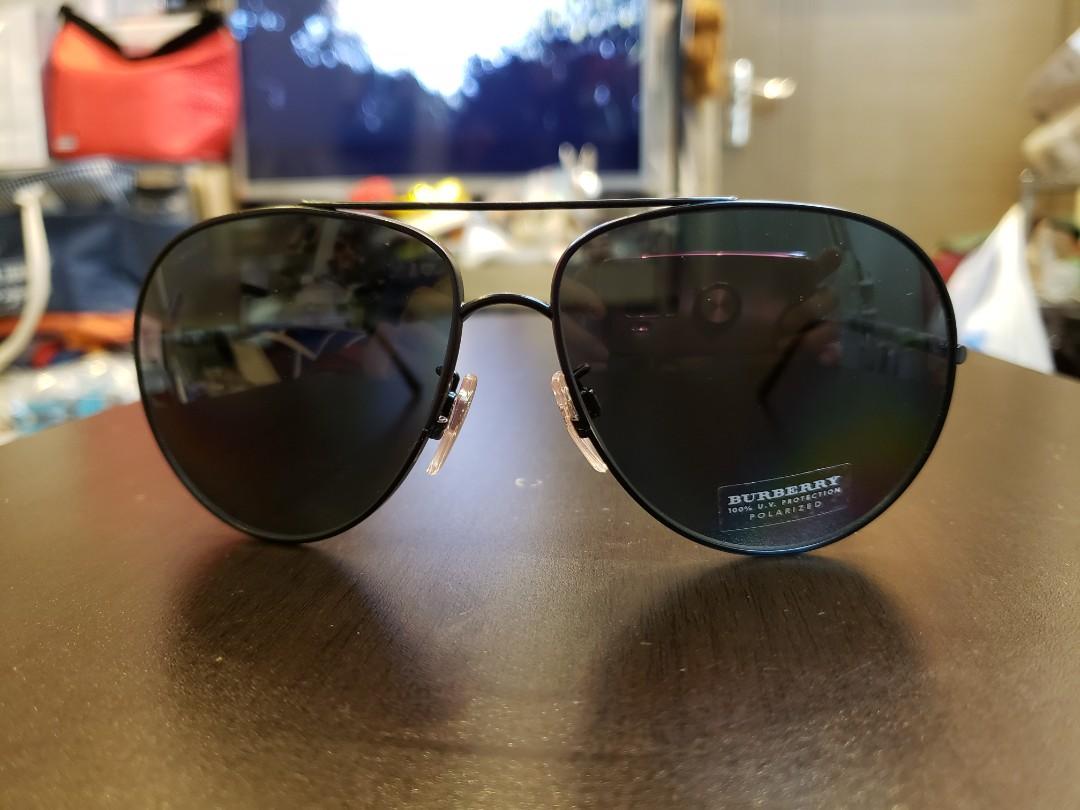 c6f4c916b512 80% off (Lens defect) BURBERRY B3055 100781 Size 60 Matt black ...