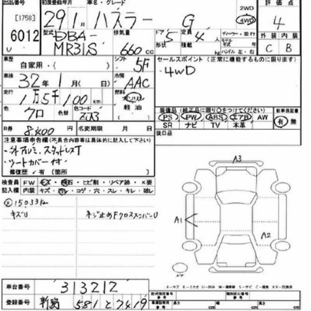 SUZUKI HUSTLER 4WD (2017)
