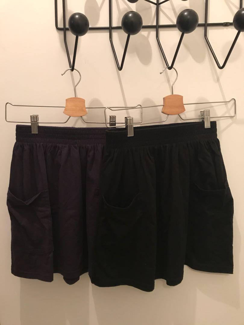 American Apparel high waisted skirt with front pocket
