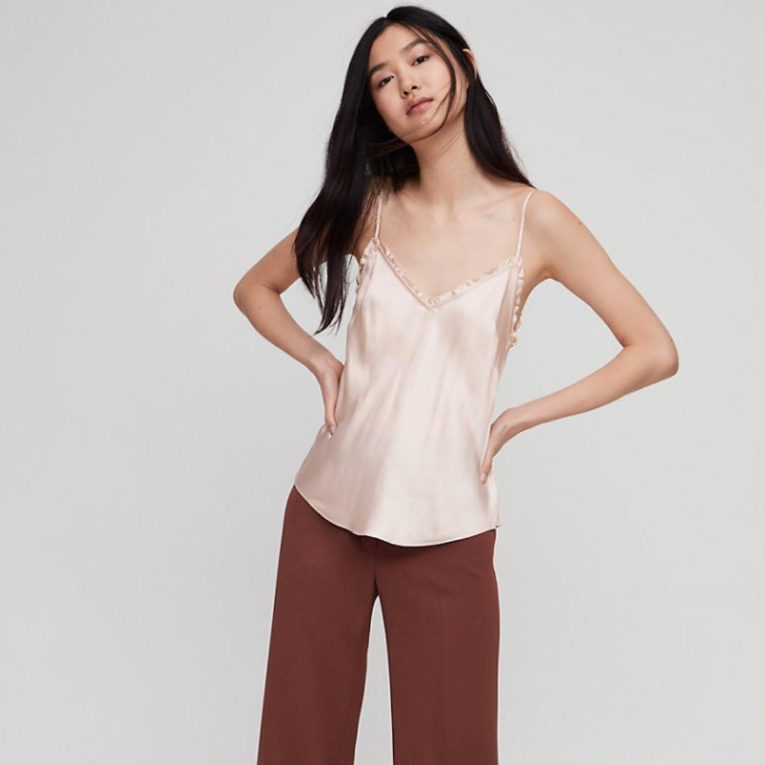 ARITZIA WILFRED Wera Camisole in Rose Quartz (light pink) - SMALL