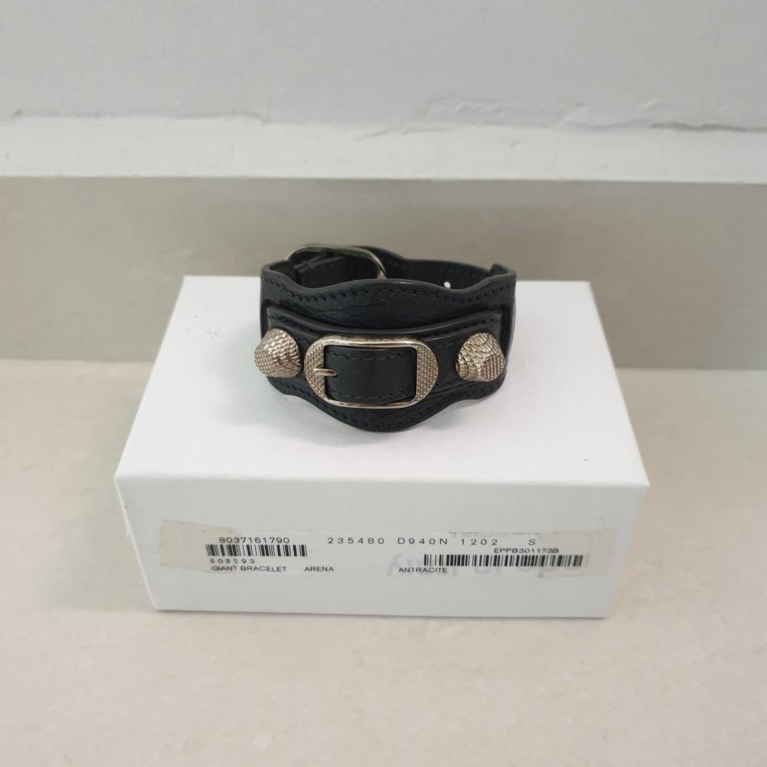 Balenciaga Giant Stud Bracelet in Antracite