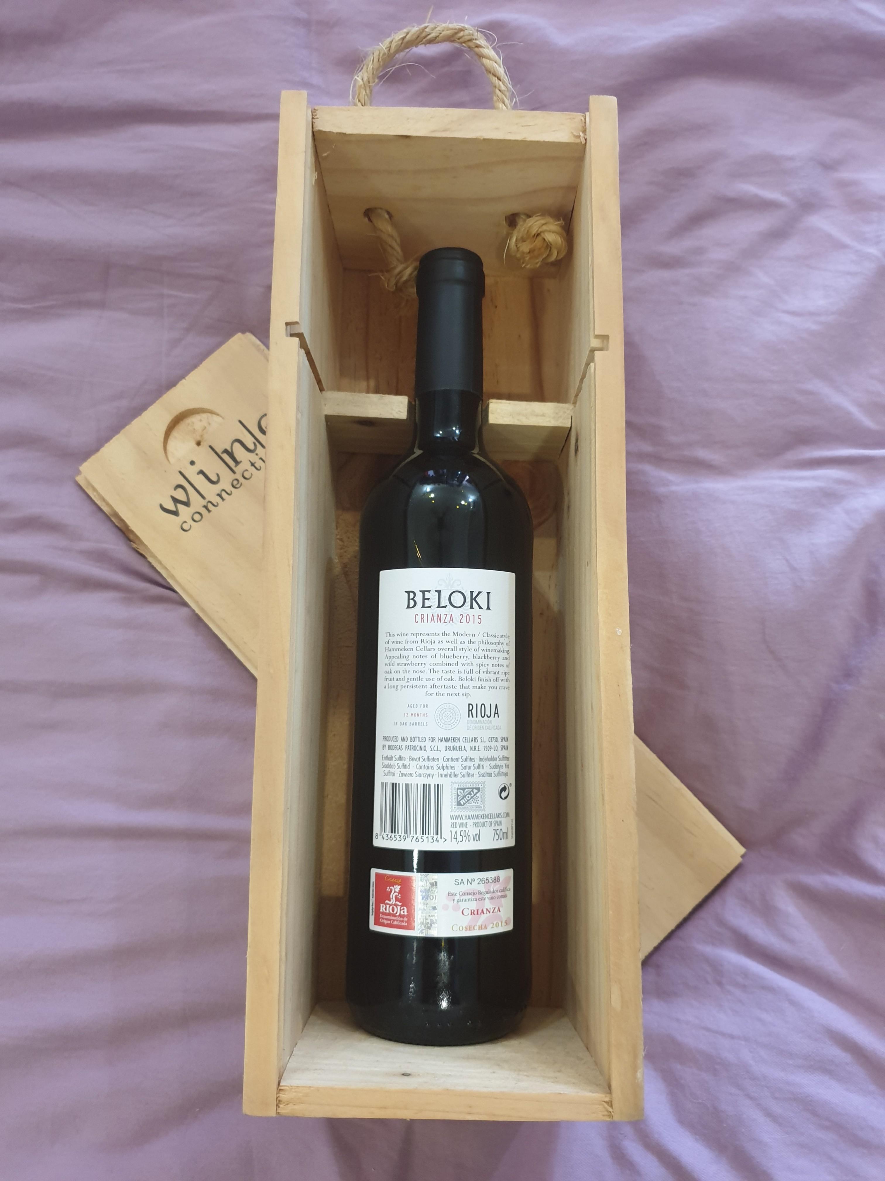 Beloki Rioja Spanish red wine FREE Cold Storage voucher