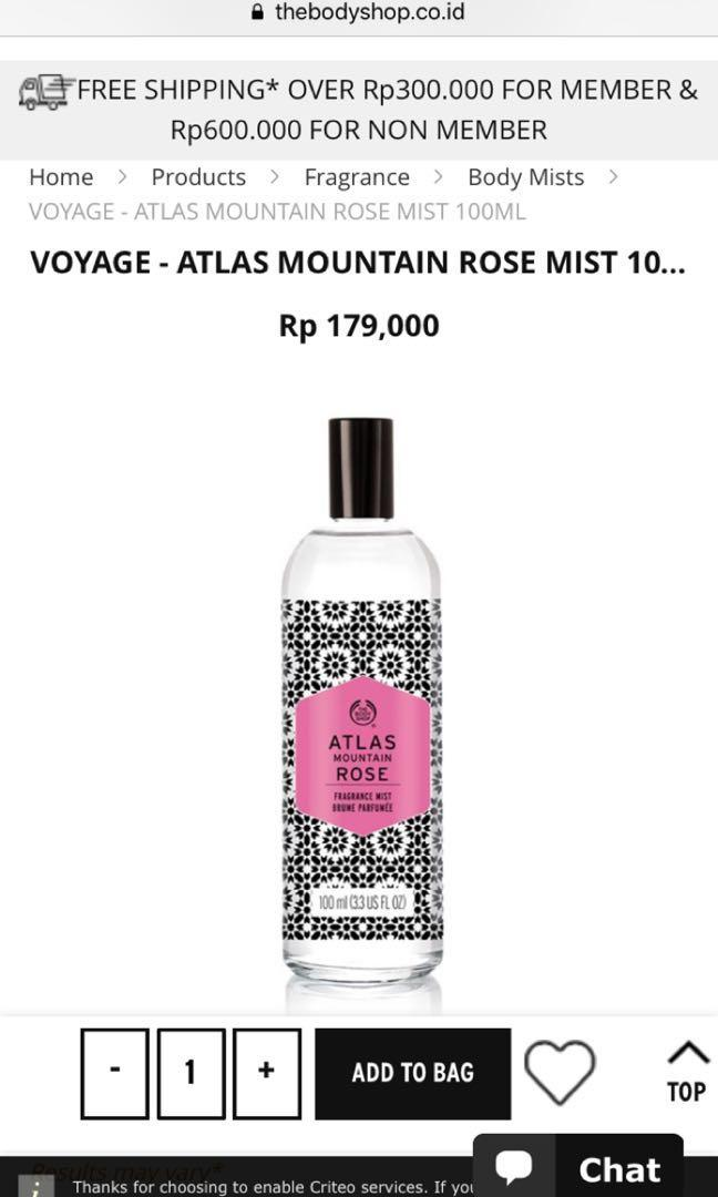 body shop ATLAS MOUNTAIN ROSE MIST