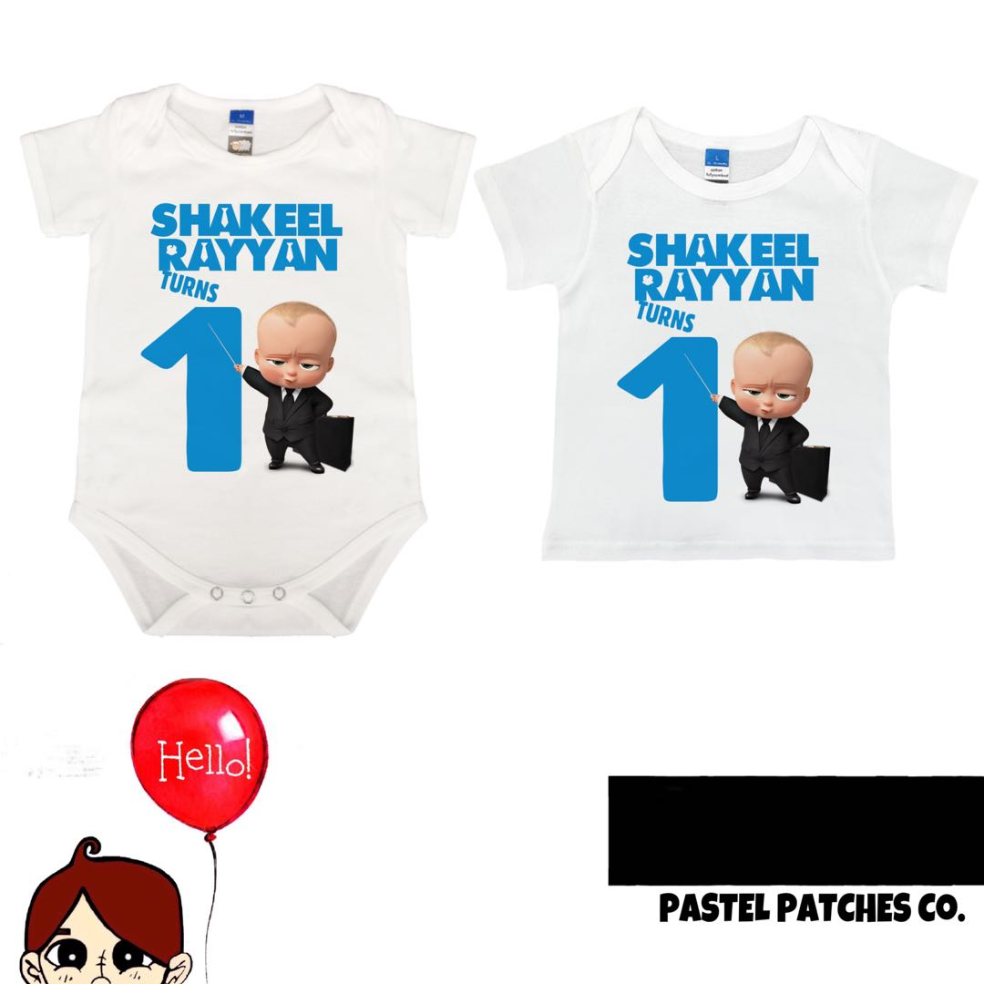 Boss Baby Birthday T Shirt Babies Kids Apparel On Carousell