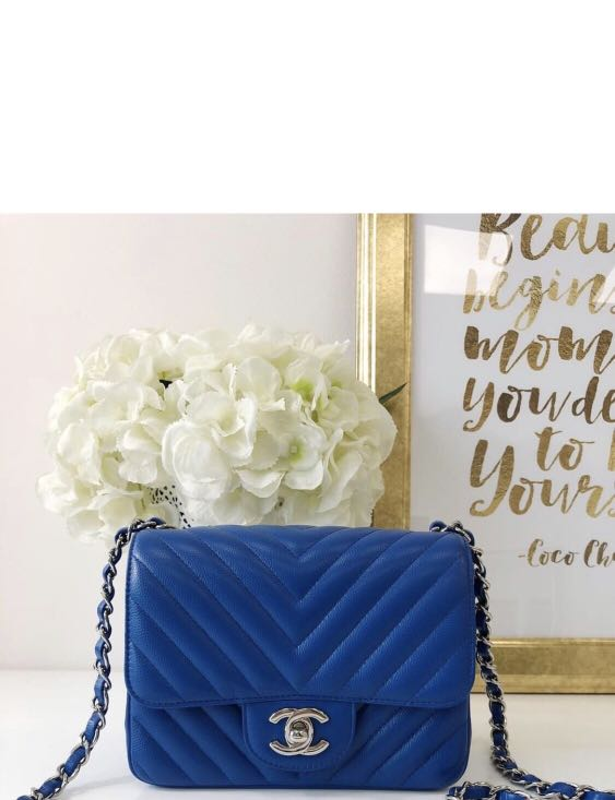 98075e3a7f47 Chanel Bag Mini Square Cobalt blue, Luxury, Bags & Wallets, Handbags ...