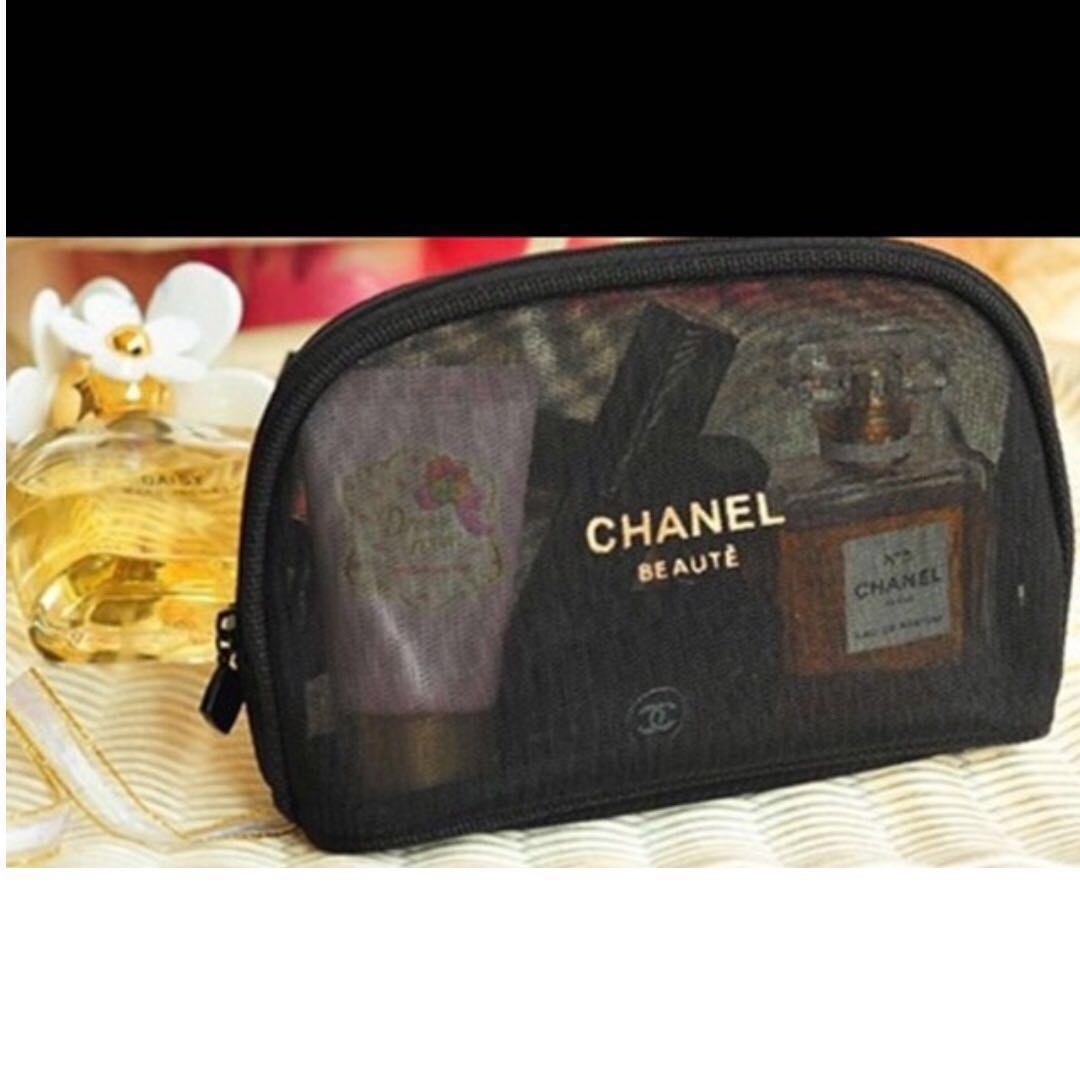 21d0cd025e66 Chanel makeup pouch, Luxury, Bags & Wallets, Others on Carousell