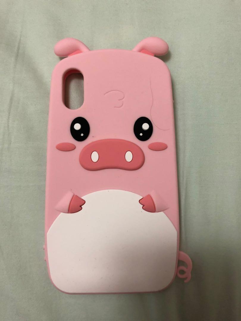 Cute Pink Pig Case for iPhone X