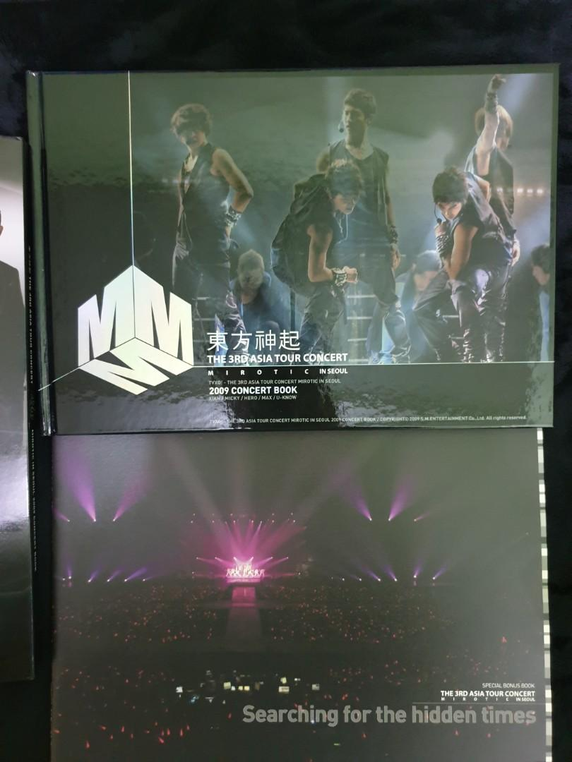 TVXQ The 3rd Asia Tour Concert Mirotic in Seoul 2009 Concert Book