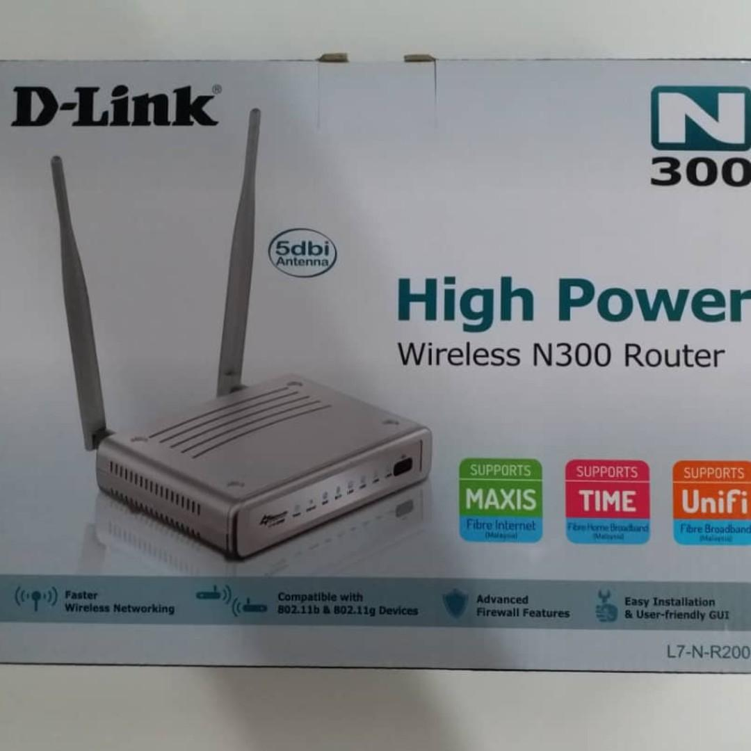 D-Link L7-N-R 2000 High Power Wireless N 300 Router