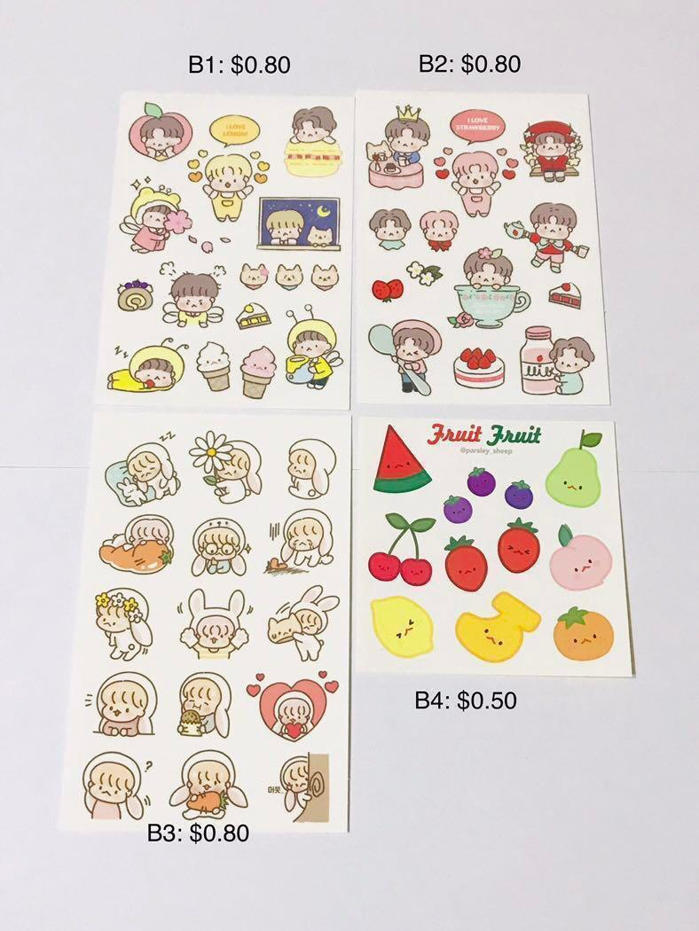 Exo Baekhyun/ D.O/ Chen Fanart Stickers Part 1