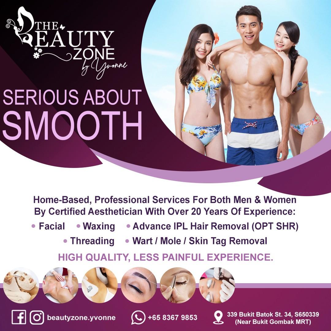 Facial, Advance IPL Hair Removal, Waxing, Threading & Wart / Mole