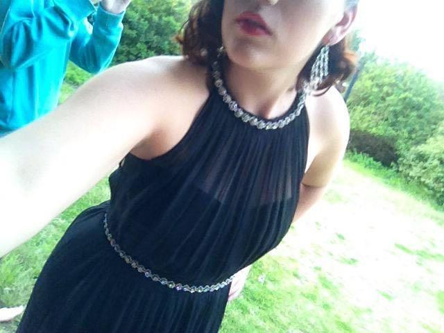 Forever new black ball dress