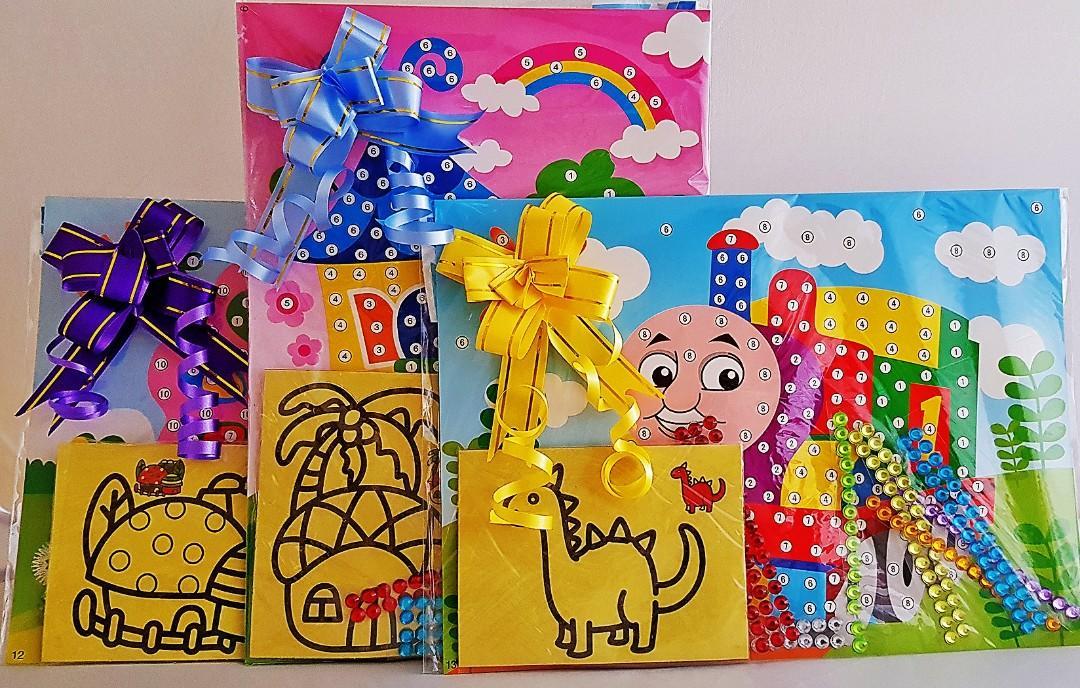 Goodie bag, goody bag, diamond art, sand art, birthday goodie bag, children's day