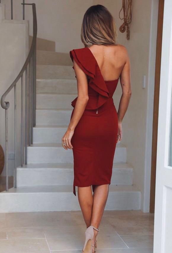 Hello Molly One Shoulder Dress