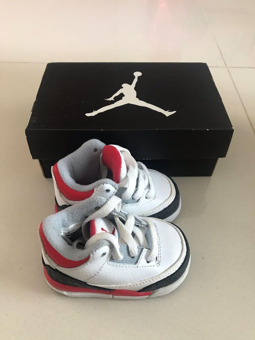 best service f53a7 cab9c Jordan 3 Retro for baby, Babies & Kids, Babies Apparel on ...