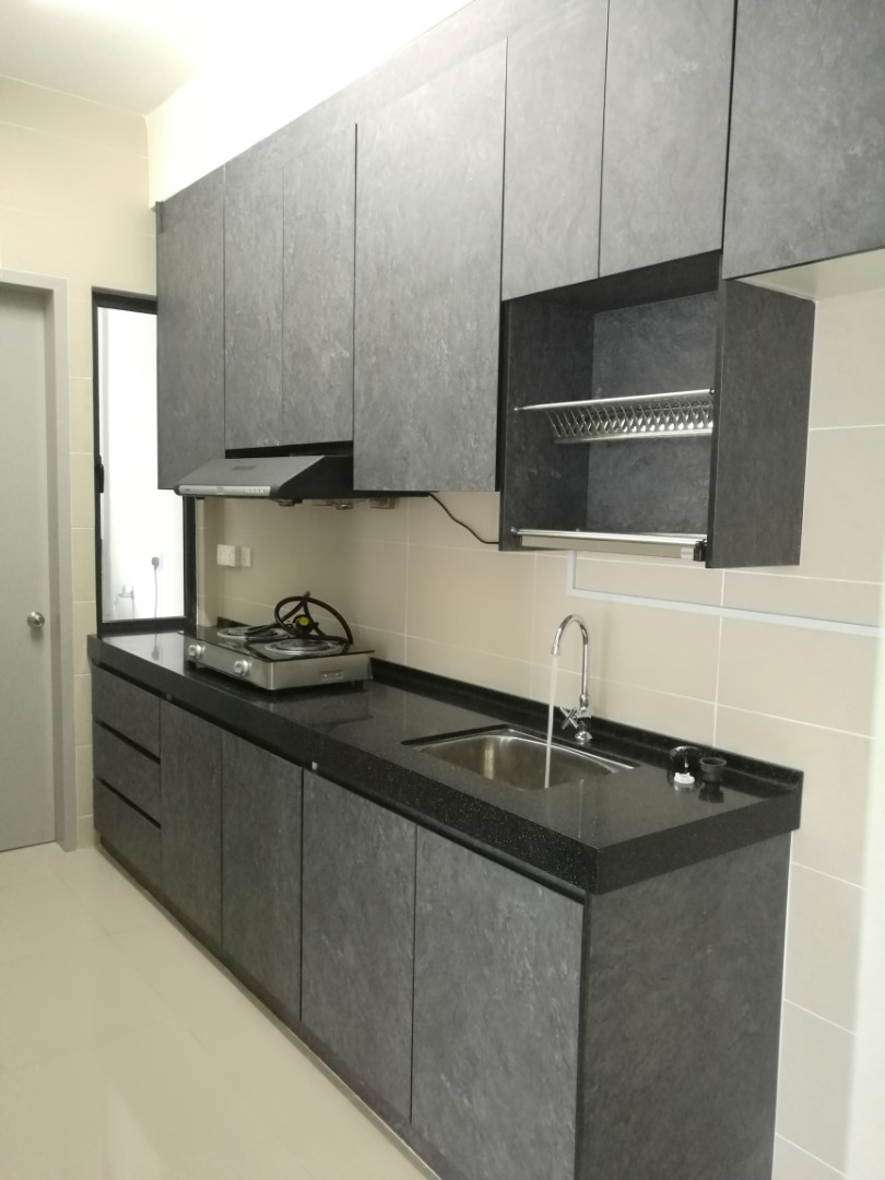 Kitchen Cabinet Dapur Kabinet Carpenter Quartz Stone 4g Rumah