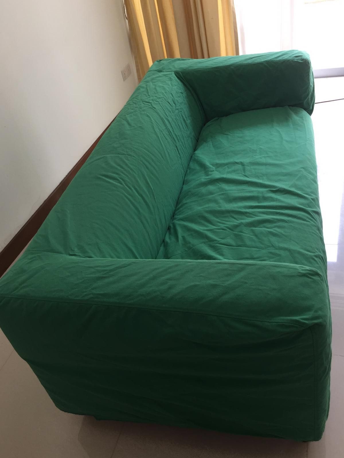 Klippan Ikea Green Sofa Cover Furniture Sofas On Carousell