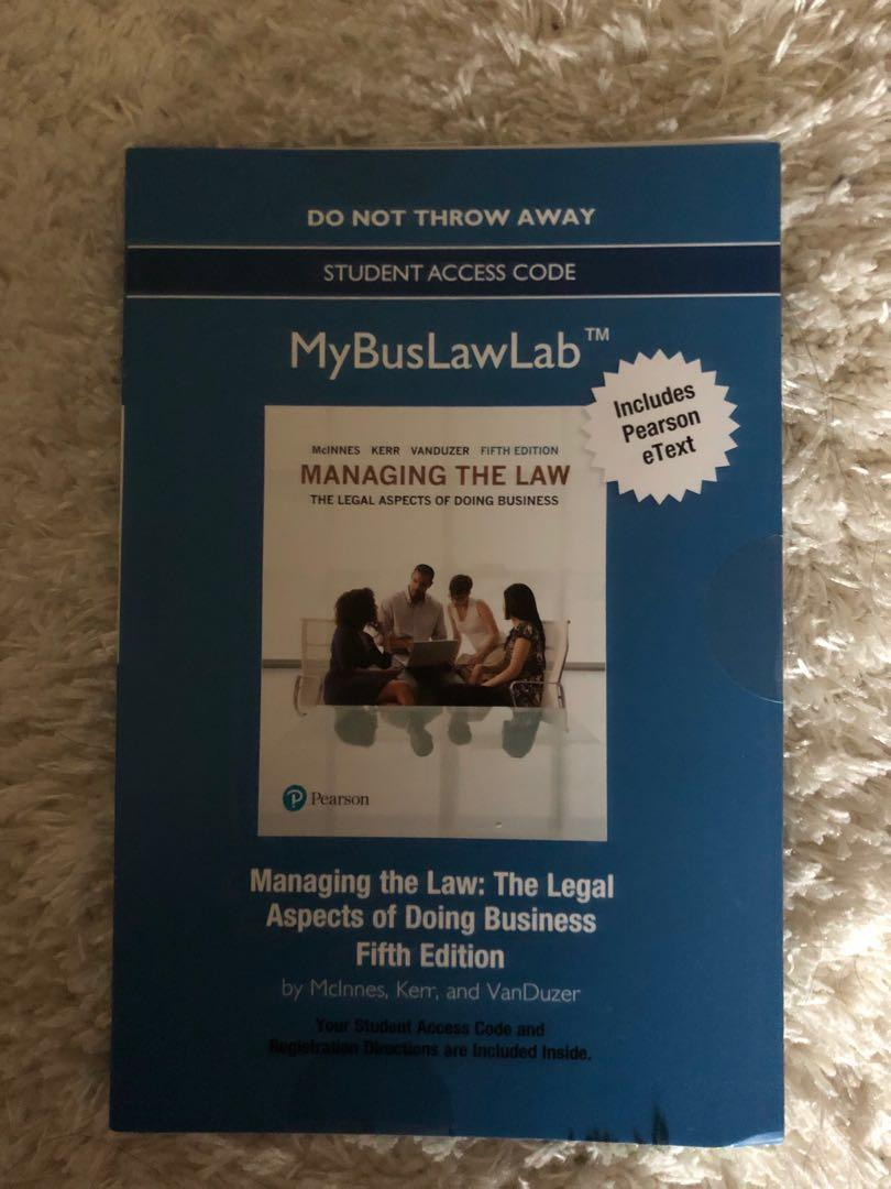 Managing the Law (5th edition) by McInnes, Kerr, and Vanduzer